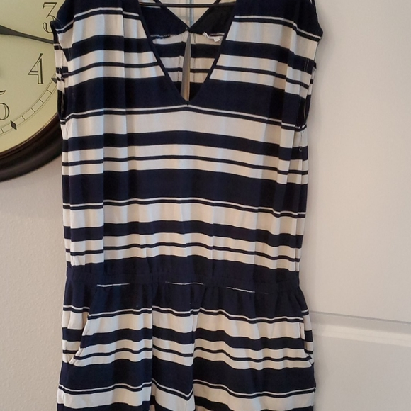 NAVY AND IVORY ROMPER BY LOU AND GREY